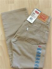 Levi Boy's New 505 Size 14 Reg 27X27 Beige Jeans Regular Fit AtWaist Str Leg 079