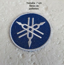 patch, écusson, fibres paillettes , yamaha ,7cm,broder thermocollant