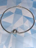 Mexico Taxco Sterling Silver Curved Tube Bead Choker Segment Necklace