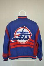 Mens Vintage Campri Jets Jacket NHL  Jacket Size Medium Blue/red