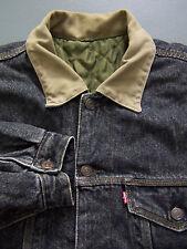 Levi's 71664 Reversible Denim Jacket Men's Small Quilted Varsity Grey LJKTz864