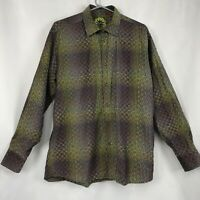 Luchiana Visconti Button Front Men's Shirt SIZE LARGE Made in Italy