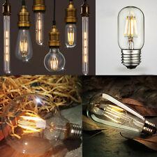E14 E27 B22 es BC 2W/4W/6W/8W Globo LED de filamento Edison Retro Bombillas Vela