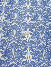 BABY ANGEL DAMASK LACE MESH FABRIC - Royal Blue - BY THE YARD DRESS DECOR BRIDAL