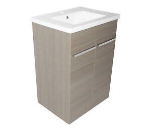 PACE 600 FLOORSTANDING UNIT WITH DOORS AND BASIN - GREY