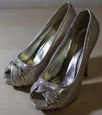 BELLUCCI - Peeptoe High Heels, Pumps, Plateau, gold/silber-metallic, Gr. 40