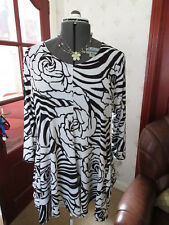 STUNNING BLACK/VANILLA/GREY L/S TUNIC f Top UK Sz18 BNWT £179