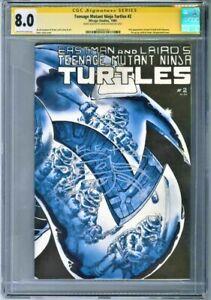 Teenage Mutant Ninja Turtles #2 - 1st Print, CGC 8.0, Signed and Sketch