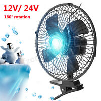 10'' 12V Car Cooling 2 Speed Fan Airflow Clip On For Home Boat Truck Hot  *