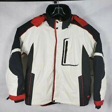Crane Sports Jacket SZ XL white black red mens sportswear snowboard ski outdoor