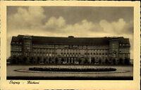 Leipzig Sachsen alte Ansichtskarte ~1930 Partie an der Bücherei Grünanlagen Park