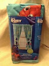 Finding Dory Curtains Disney Blue Microfiber Window 2 Curtain Panels Tie Pixar