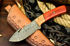 Custom Hand Made Damascus Steel Hunting Blade Hunter Camping Full Tang Knife