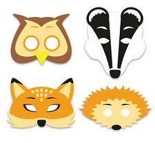 6 Foam Woodland Animal Masks - Pinata Toy Loot/Party Bag Fillers Wedding/Kids