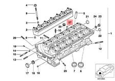 Genuine BMW E38 E39 E46 E53 E60 E61 Cylinder Head Cover Lid OEM 11121427243