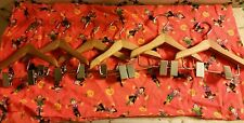 "NEW-SIX-6""Wood Clothes Hangers-w/Clips-Made to Fit 16""Dolls American Girls Love!"