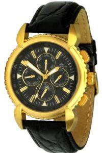 Roebelin & Graef Trafalgar Automatic Watch Stainless Steel IP Gold Men's Watch