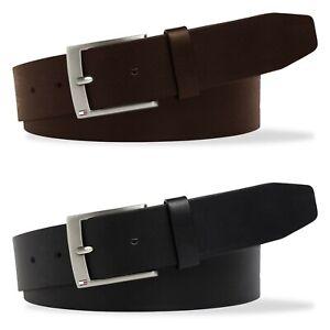 Tommy Hilfiger Belts - Tommy Hilfiger Flag Buckle Leather Belt - Black, Brown