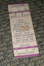 Travis Tritt Sammy Kershaw 1995 concert ticket Lenawee Country Fair Michigan vtg
