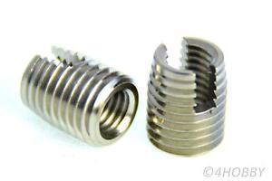 2 Gewindebuchsen Edelstahl M8 M12 Schraubhülse selbstschneidend Buchse 3D Druck