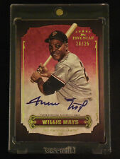 2012 Topps Five Star Willie Mays Autograph On Card #20/25 Giants Nice!