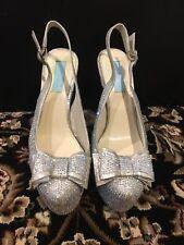 "Betsey Johnson Swarovski Crystal ""Something Blue"" Bridal Heels -Size 8-Worn Once"