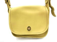 Chartreuse Green Heavy Leather Messenger Bag Purse Shoulder Brass Turnbuckle