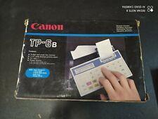 Canon TP 6b Pockett Printer Calculator Calculatrice Vintage