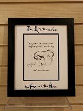 Charlie Mackesy book extract framed. The boy, the mole,the fox and the horse 7