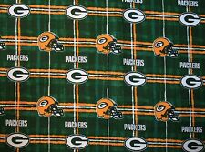 1 NFL GREEN BAY PACKERS BODY SIZE PRINTED FLANNEL PILLOW CASE/BLACK FLEECE BACK