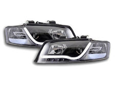 AUDI A4 B6 8E (2001-2004) Nero LED Drl Luce Diurna Esecuzione Luci Anteriori Rhd Gratis P&P