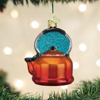 Tea Kettle Glass Ornament Old World Christmas