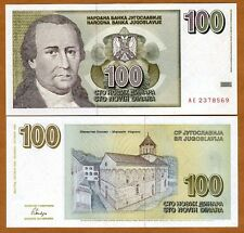 Yugoslavia, 100 Novih Dinara, 1996, P-152, UNC > Short lived issue