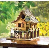 Large Bird House Wood Wooden Hanging Standing Manor Painted Birdhouse Medium