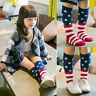 Baby Kids Girls Toddler American Flag Socks Knee High Hosiery Tights Leg 0-6T