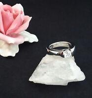 Ring Silber 925 Rodiniert Zirkonia 57 Größe 18,1 mm