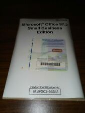 New In Package Sealed Microsoft Office 97.2 Small Business Edition