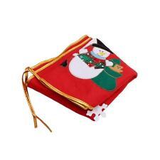 SANTA CLAUS SNOWMAN CHRISTMAS TREE SKIRT BASE FLOOR STAND COVER DECORATION LG