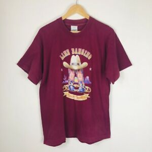 Vintage/Retro 90s LINE DANCING Boot Scootin' Mens Purple Single Stitch T-Shirt L