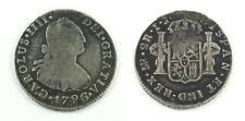 1796 Peru 2 Reales Silver Coin - King Carolus or King Charles IIII or IV