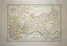 1833 Genuine Antique map of Prussia. Malte-Brun