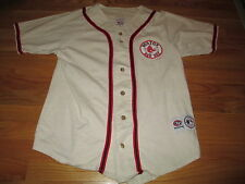 True Fan Label BOSTON RED SOX Embroidered (MED) Baseball Jersey