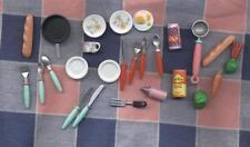 Group Dollhouse Miniatures Plastic China Flatware Ice Cream Scoop Food Eggs Pan