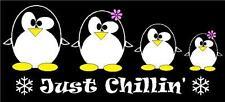 Penguin Family Stick Figure Car Decal Sticker Custom