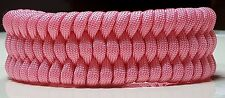Pink Breast Cancer Awareness Trilobite Cuff Paracord Survival Bracelet or Anklet