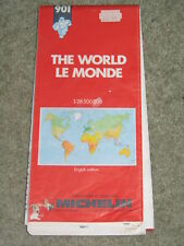 Michelin 910 Map of the World - scale  1:28,500,000 - 1990