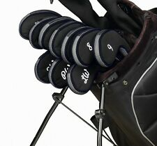 NEW! 10 Piece Zippered Long Neck Golf Club Iron Covers Protects Graphite Shafts