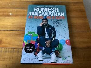 Romesh Ranganathan As Good As It Gets -SIGNED COPY - Brand new hardcover