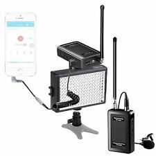 Saramonic Wireless VHF Lavalier Microphone Bundle w/ LED Light for Smartphones