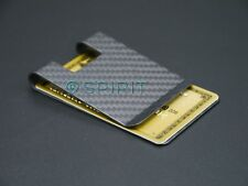 Large REAL 100% Carbon Fibre Business Card Holder Money Clip Wallet MATT Finish